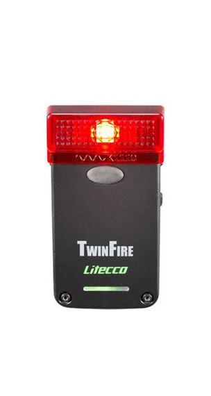 Litecco Twinfire Baglygte rød/sort